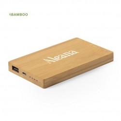 Batterie Externe en bambou