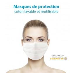 Masques de Protection Coton Vierges